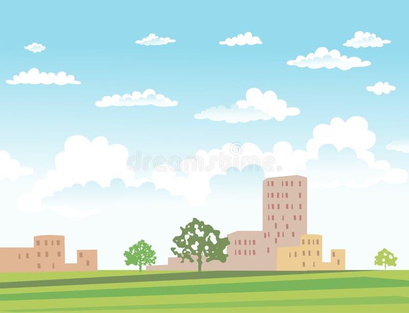 都市风景的传染媒介例证 向量例证