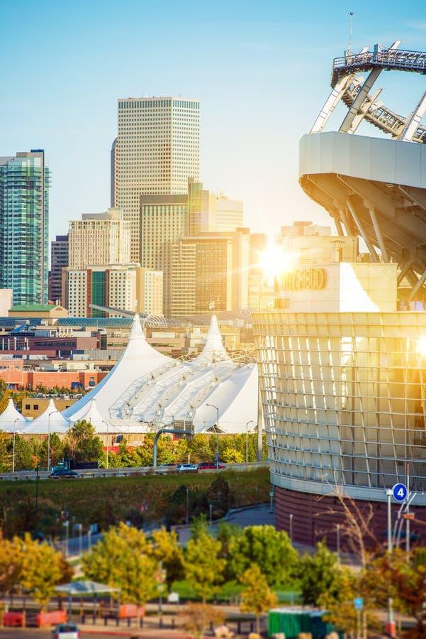 都市风景科罗拉多丹佛 免版税库存照片