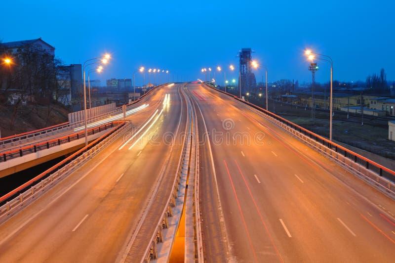 都市风景穿上晚上rostov俄国 免版税图库摄影