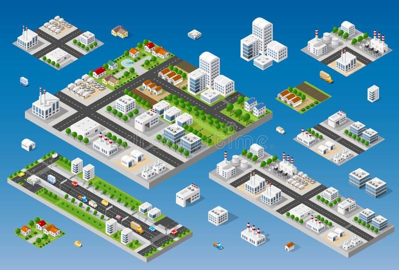 都市风景设计元素 向量例证