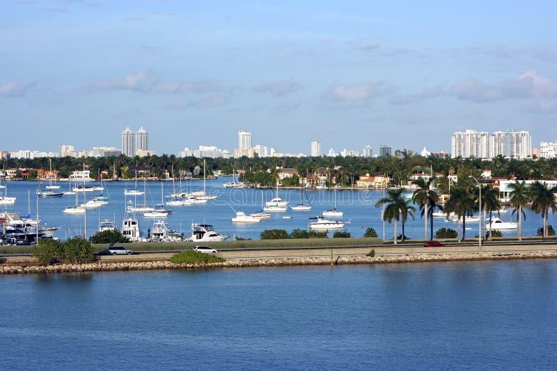 都市风景迈阿密 免版税库存照片