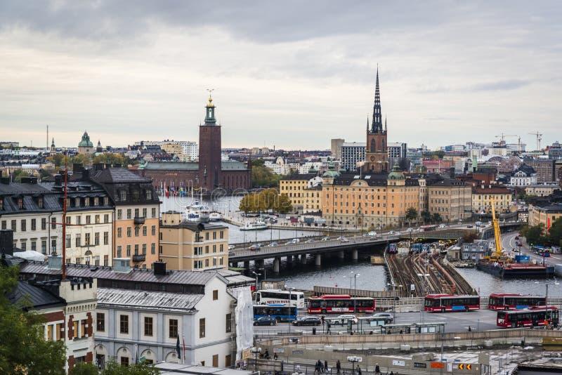 都市风景,斯德哥尔摩,瑞典 库存图片