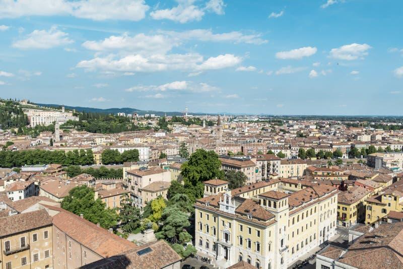 都市风景从上面维罗纳,意大利 图库摄影