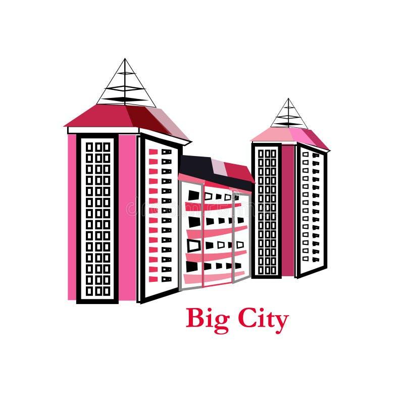 都市风景建筑限界艺术传染媒介大例证的设计- 库存例证