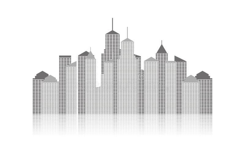 都市风景 库存例证