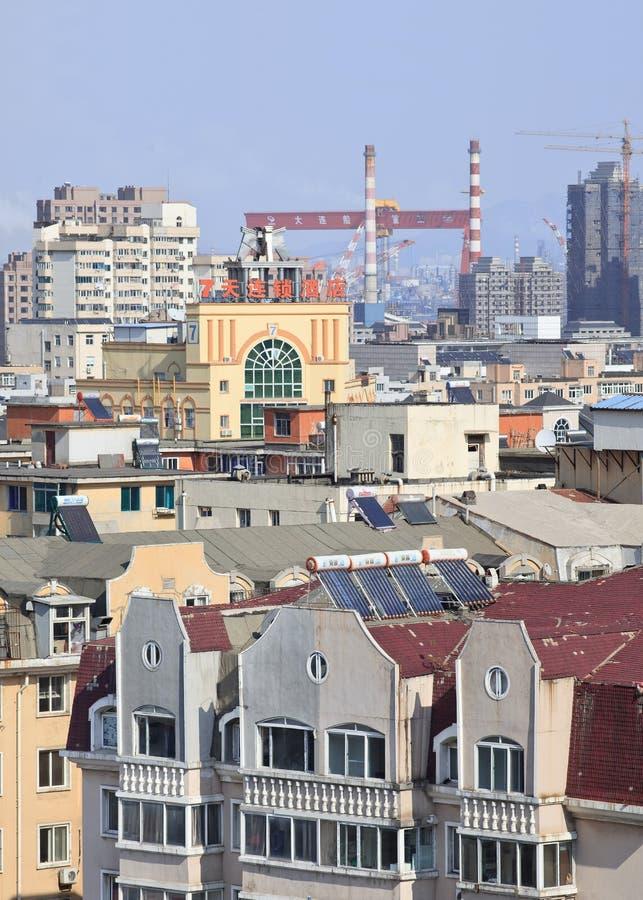 都市风景ona晴天在大连,辽宁,中国 库存图片