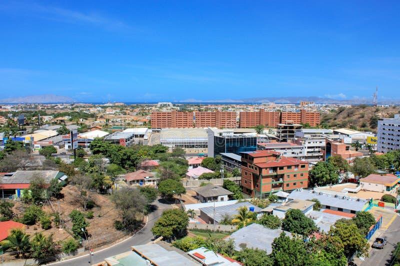 都市风景puerto la cruz 库存照片