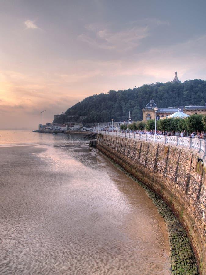 都市风景San Sebastian 免版税库存图片