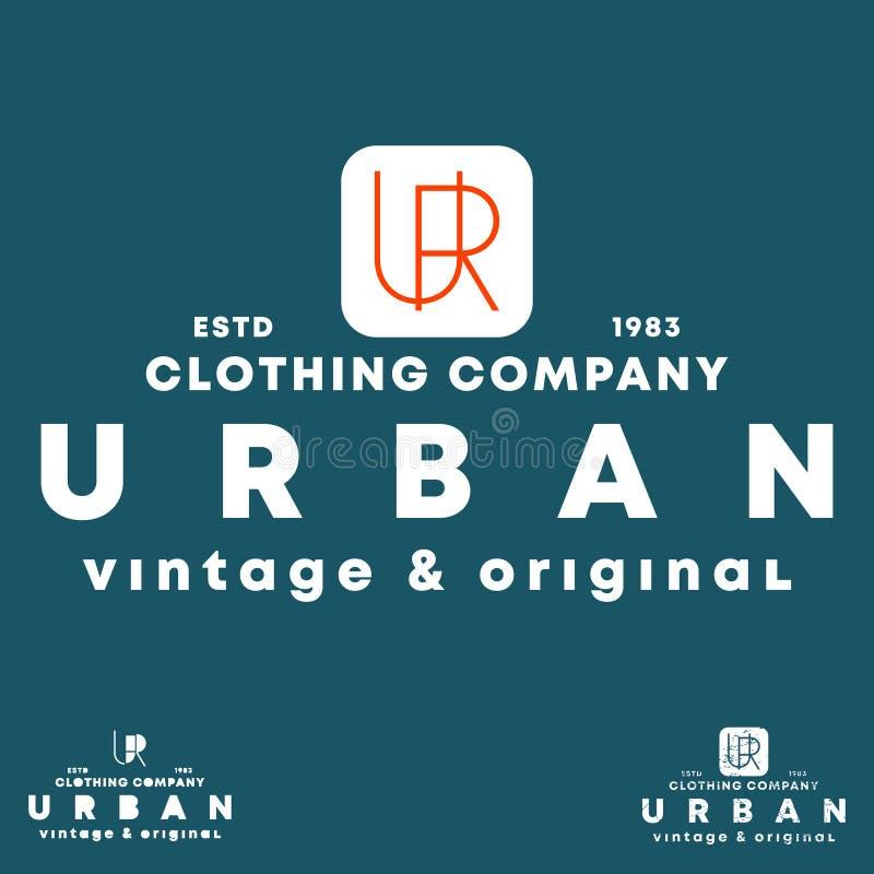 都市T恤杉邮票 打印的徽章、补花、标签、T恤杉,牛仔裤,偶然和都市穿戴印刷术设计 向量例证