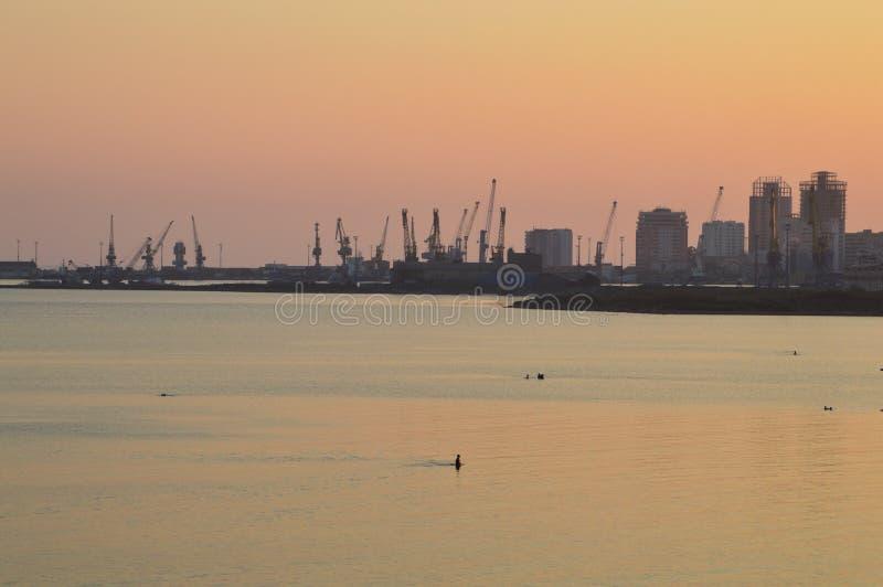 都拉斯港  免版税库存图片