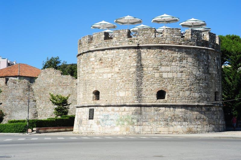 都拉斯老城市墙壁  免版税库存图片