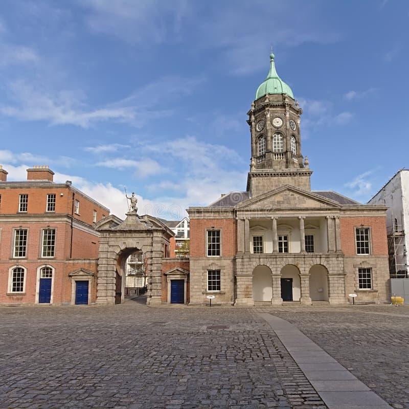 都柏林城堡,爱尔兰内在法院  免版税库存图片