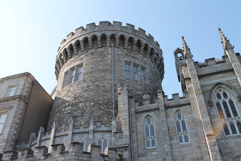 都柏林堡上面的看法  免版税图库摄影