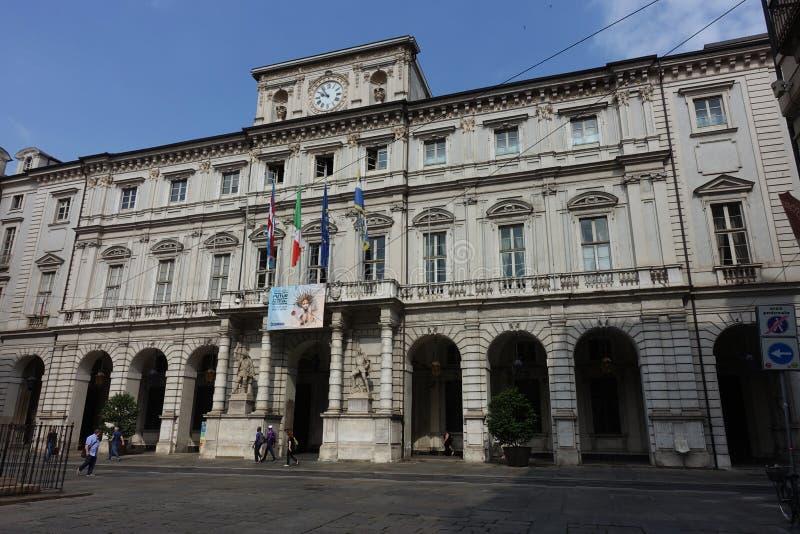 都灵广场Palazzo Palazzo广场 免版税库存照片