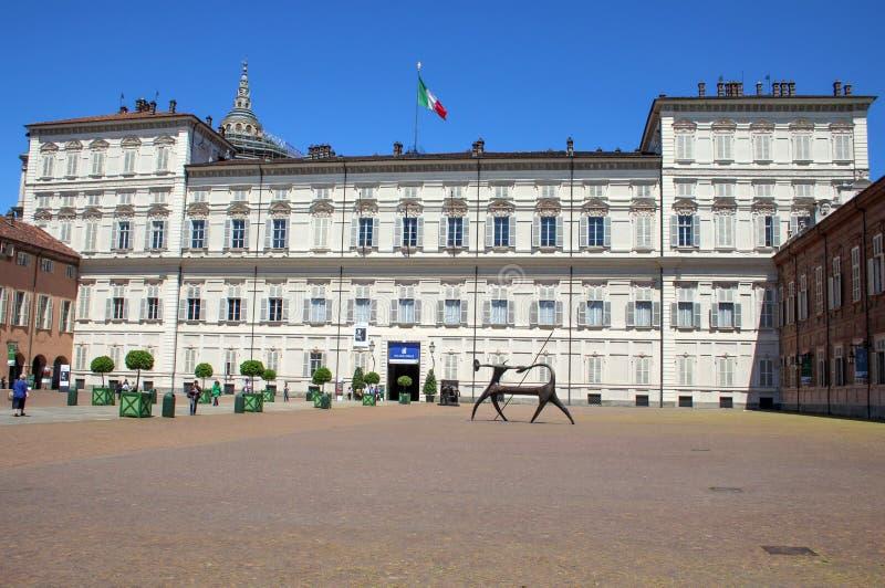 都灵,意大利王宫  免版税库存照片