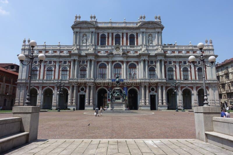 都灵Palazzo卡里尼亚诺,卡里尼亚诺宫殿 库存照片