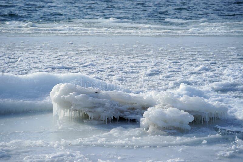 鄂毕河在冬天。 免版税图库摄影