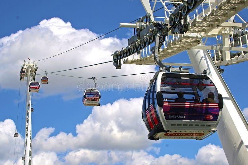 酋长管辖区缆车在伦敦,英国 免版税库存图片
