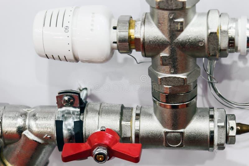配件和阀门、管子和适配器 库存照片