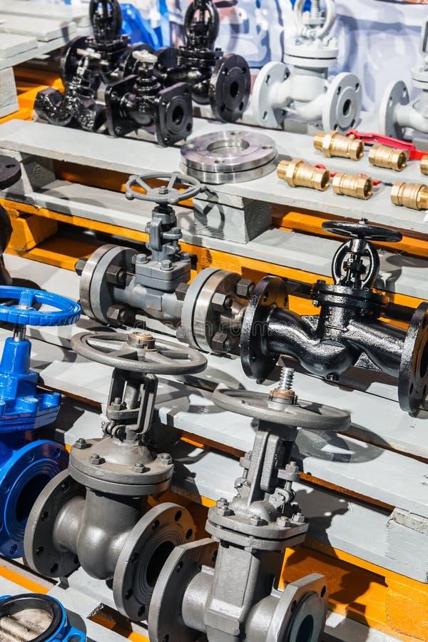 配件和阀门、管子和适配器 免版税库存图片