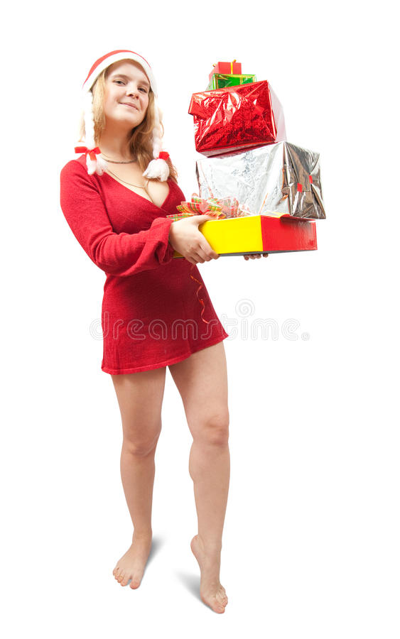 配件箱上色了欢乐女孩藏品好 库存图片