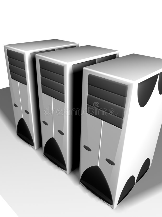 配件箱个人计算机三 向量例证