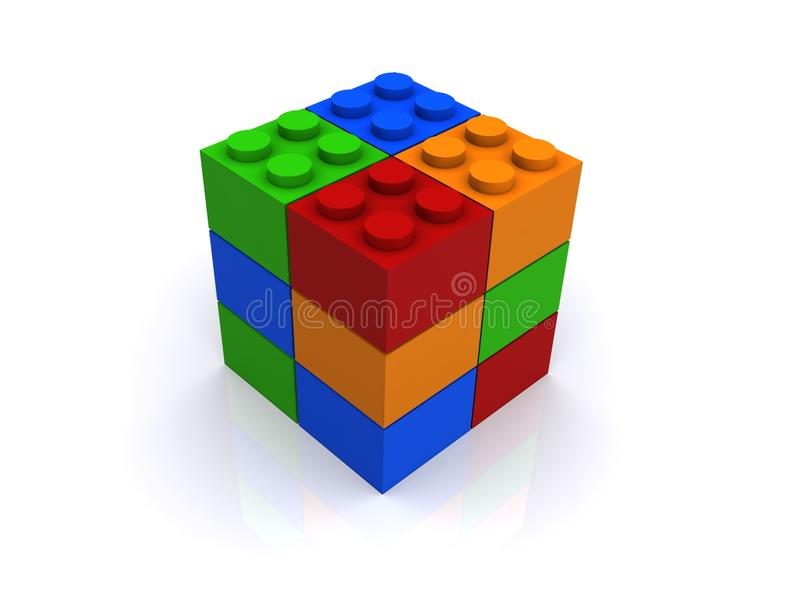 配件箱互锁 向量例证