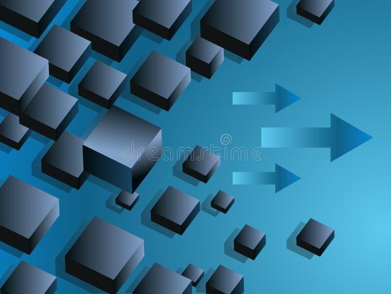 配件箱企业图表浮动的幻灯片 皇族释放例证