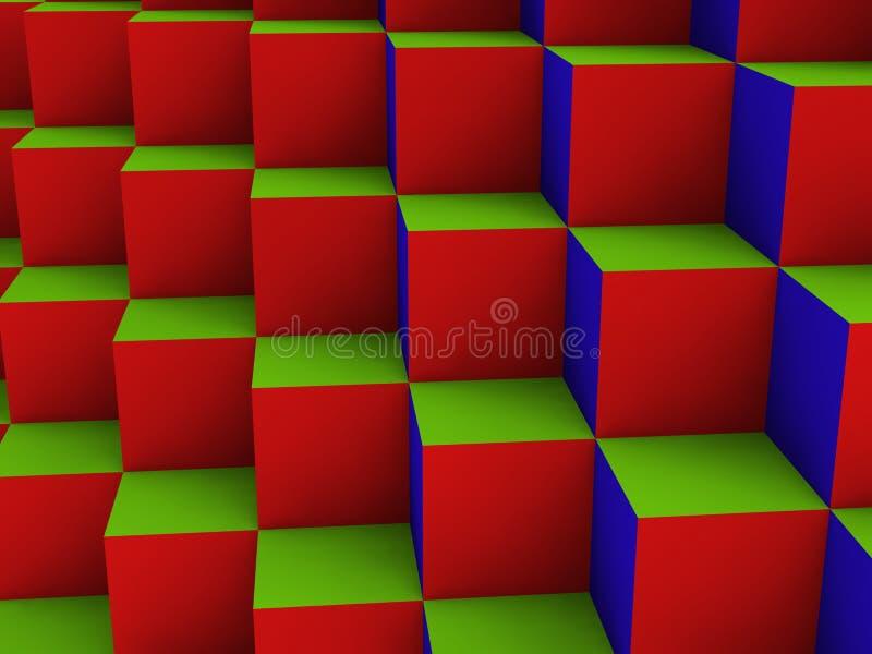 配件箱光学多维数据集的illustion 库存例证