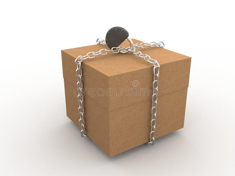 配件箱关闭了 皇族释放例证