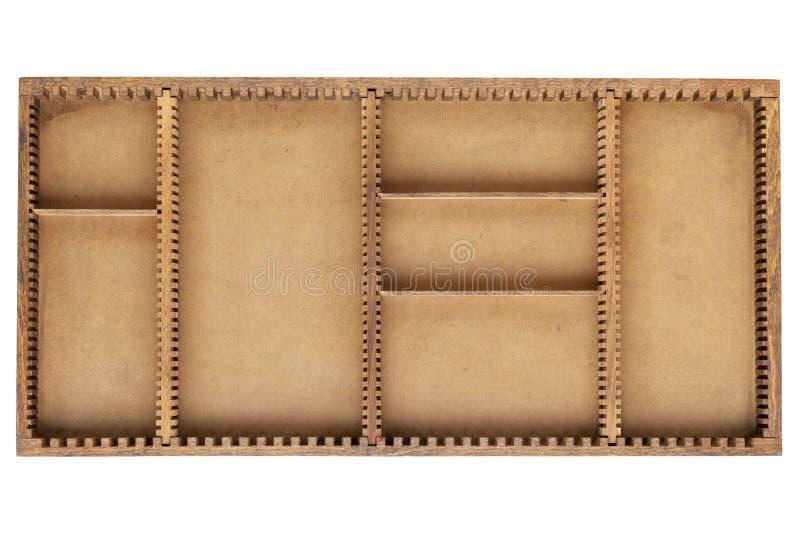 配件箱分切器老木头 免版税库存图片