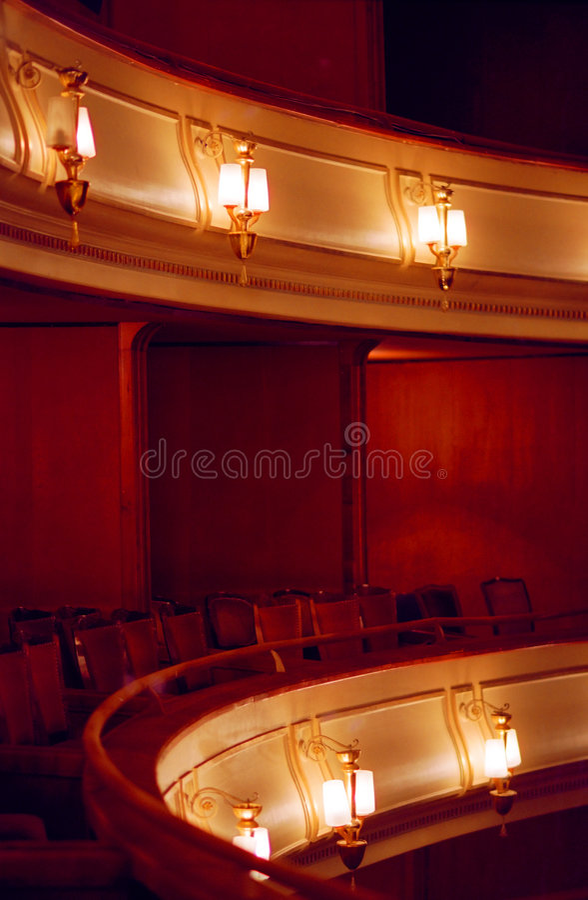 配件箱剧院 库存图片
