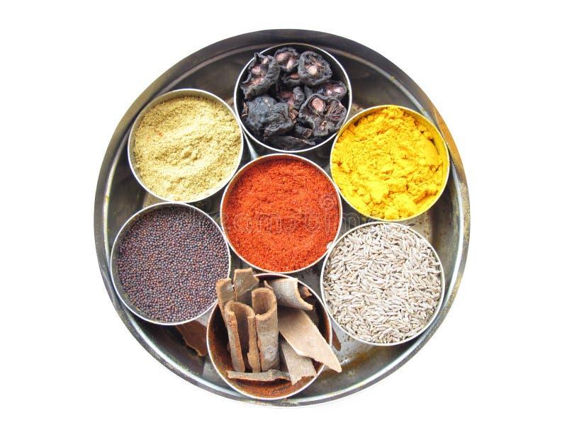 配件箱印地安人香料 库存照片