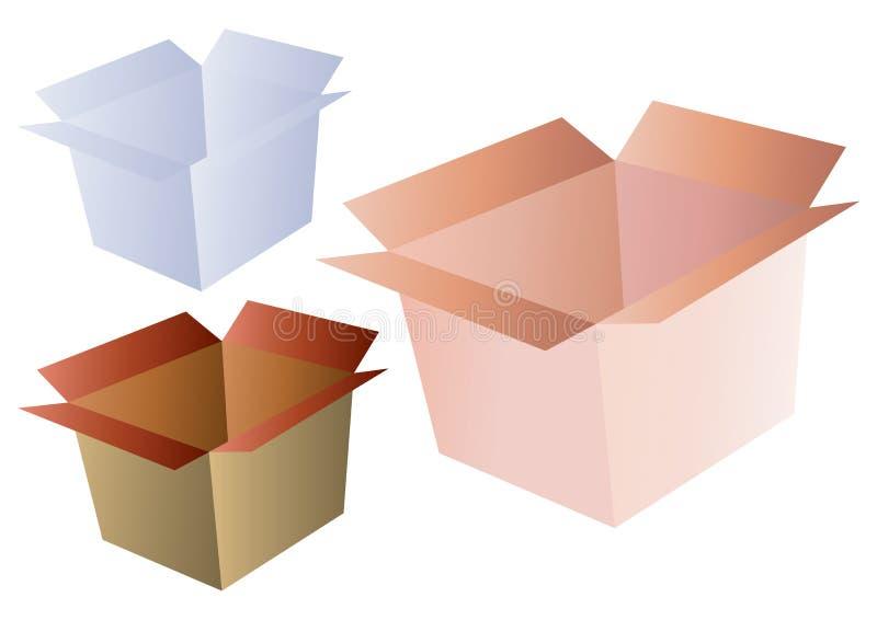 配件箱发运向量 库存例证
