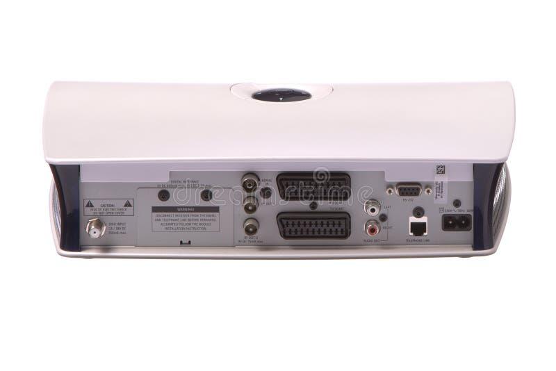 配件箱后方卫星电视视图 免版税库存照片