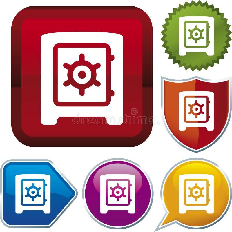 配件箱图标安全系列 皇族释放例证