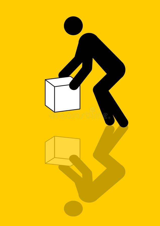 配件箱图象人移动 向量例证