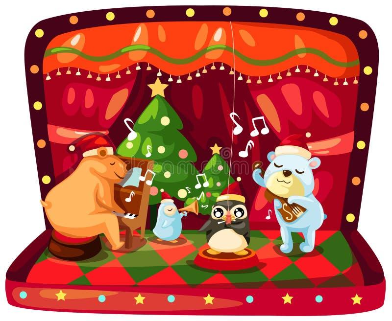 配件箱圣诞节音乐 皇族释放例证