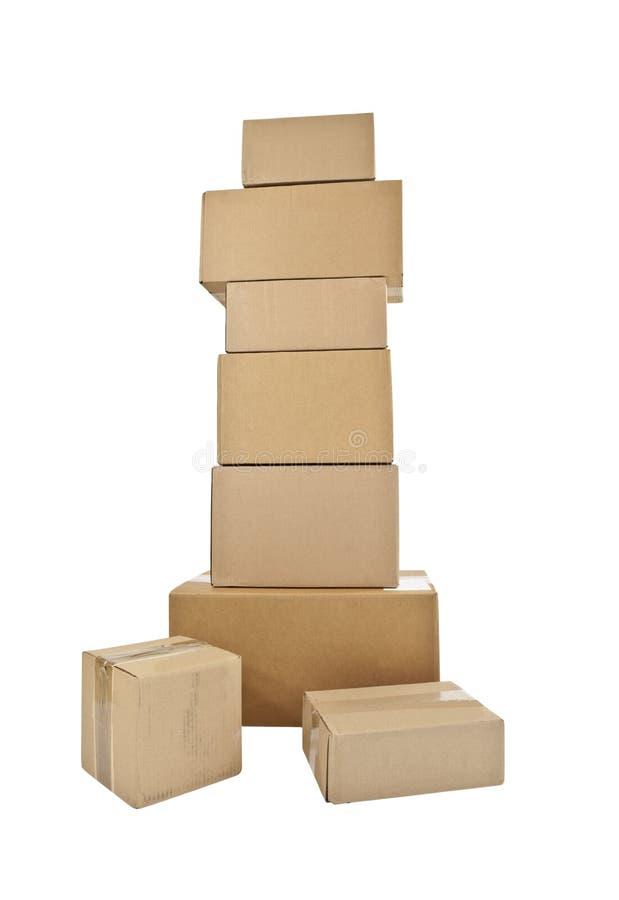 配件箱堆积高 免版税库存图片