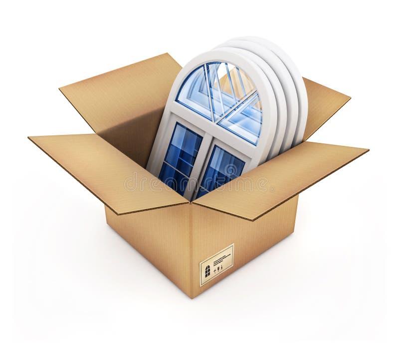 配件箱塑料视窗 向量例证