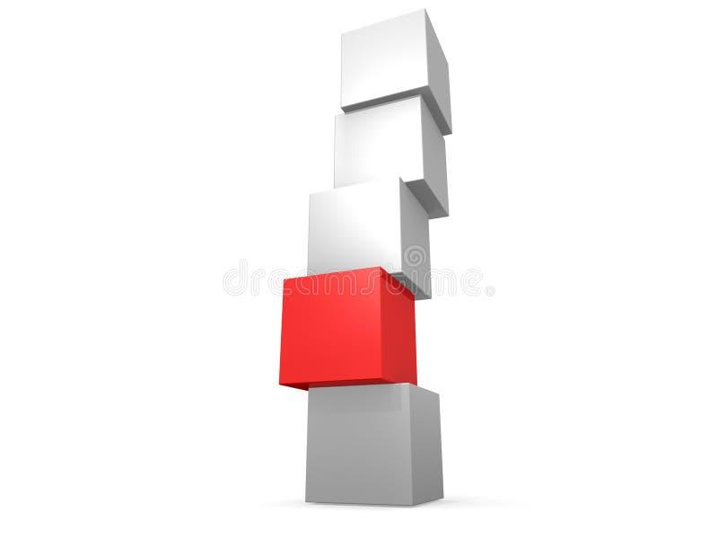 配件箱塔 向量例证