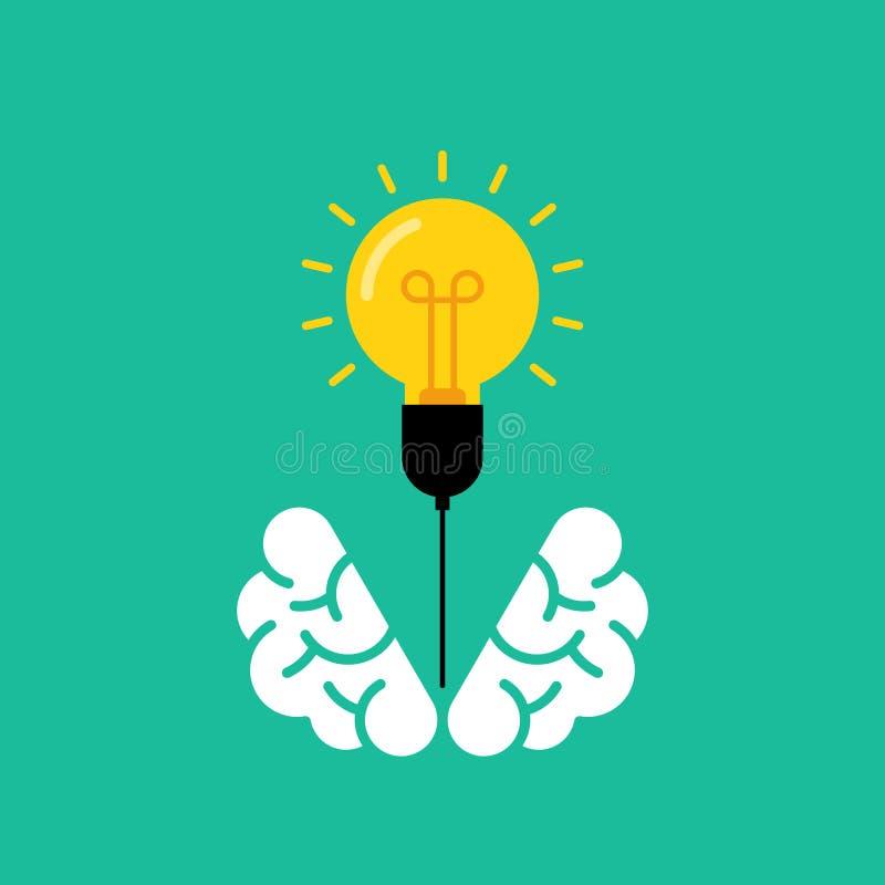 配件箱外部认为 创造性的想法概念平的设计 向量例证