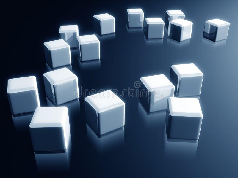 配件箱多维数据集装饰设计要素反映 库存例证