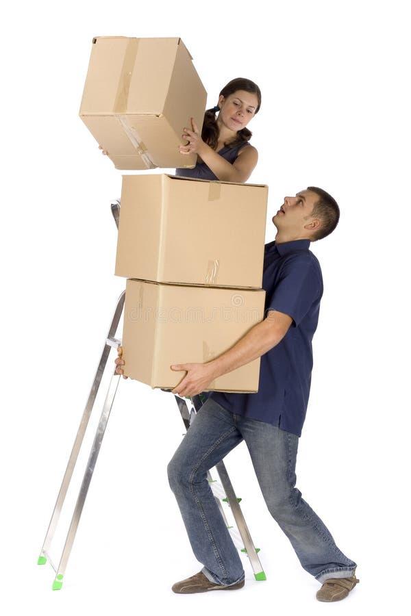 配件箱夫妇安置整修 免版税库存图片