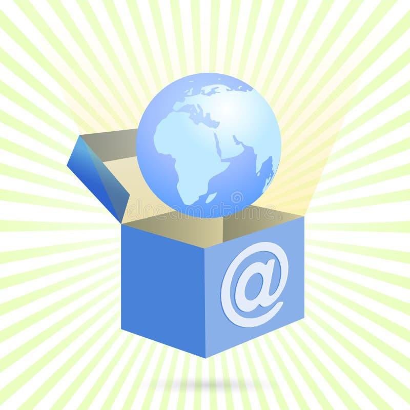 配件箱家庭互联网向量 皇族释放例证