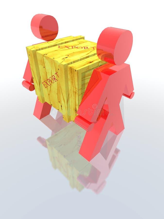 配件箱导出 库存例证