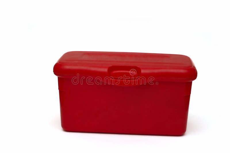配件箱尿布红色 库存照片