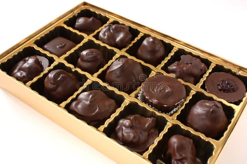 配件箱巧克力 库存照片