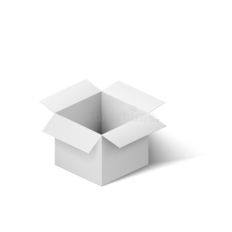 配件箱开放白色 在空白背景查出的向量例证 向量例证
