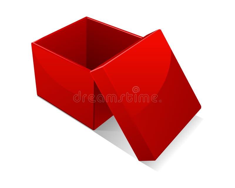 配件箱开放红顶 皇族释放例证